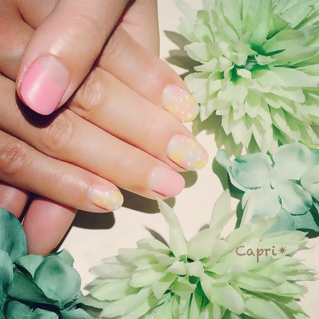 マットな春nail。カジュアルなスタイルで。
